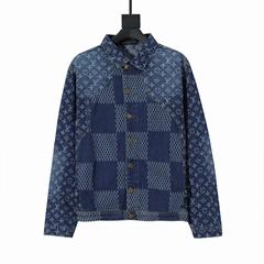 lv giant damier waves monogram denim jacket lv jacket