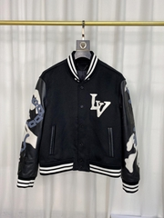 lv chains camo varsity jacket 1A7X1S lv jacket 1A7X1S