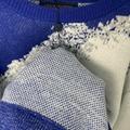 HAND-KNIT CLOUD INTARSIA CREWNECK    SWEATER  BLUE  1A8A1J  8