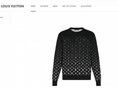Newest lv gradient monogram crewneck black white lv sweatshirt lv tshirt 1A8A1N