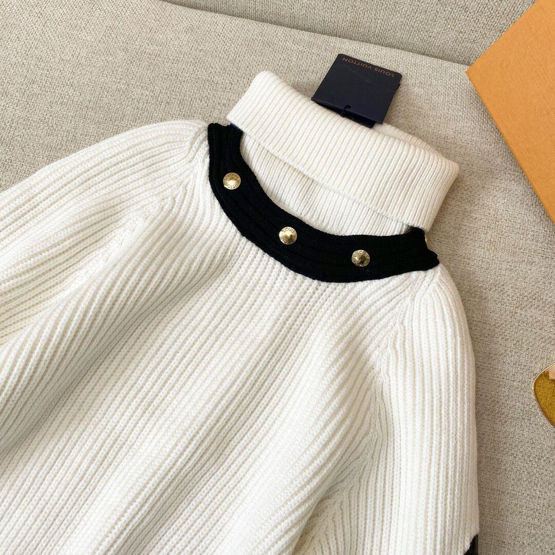 Newest    long sleeved turtleneck in ribbed wool    sweater lady 1A8392 7
