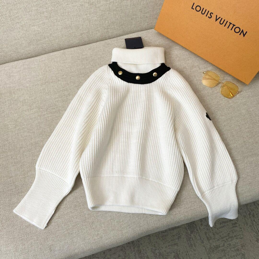 Newest    long sleeved turtleneck in ribbed wool    sweater lady 1A8392 3