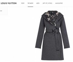 hotsale     hooded wrap coat with belt 1A82GP Grey    coat    lady coat