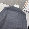 Newest    patch wool knit sweater    sweater 1A839G Grey  7