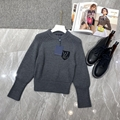 Newest lv patch wool knit sweater lv
