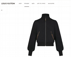 Hot lv black monogram jogging jacket in technical jersey lv lady jacket