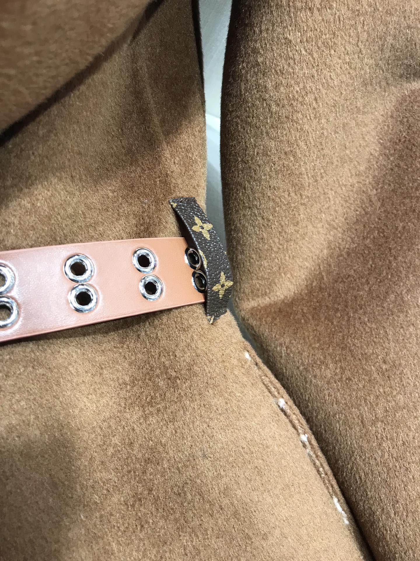 Newest wrap peacoat in wool and silk with monogram detailBiscotti  1A8260  3