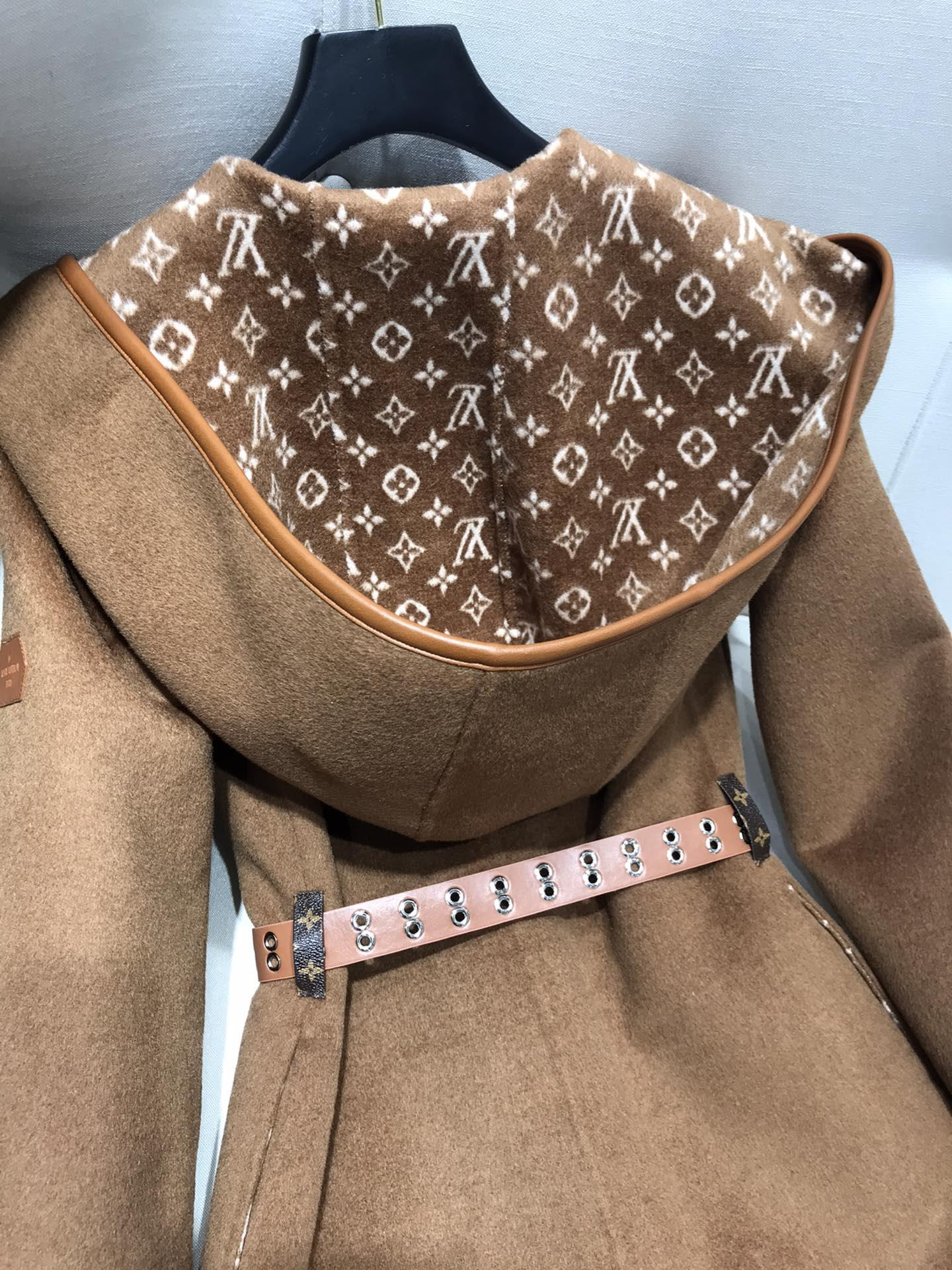 Newest wrap peacoat in wool and silk with monogram detailBiscotti  1A8260  9