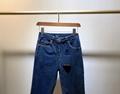lv mid rise straight classic jeans in stretch indigo denim 1A83TF