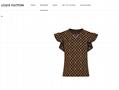 Hotsale lv flounce sleeve monogram top