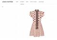 lv monogram mini dress in silk crepe de chine lv dress