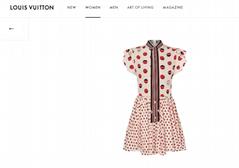 mini dress in silk crepe de chine    dress