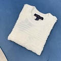 lv soft wool knit t-shirt with 3d louis vuitton signature