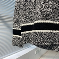 v neck sweater blue and gray cashmere and wool      sweater  6
