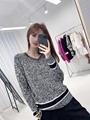 dior v neck sweater blue and gray cashmere and wool dior sweater