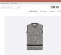 Dior V-NECK SLEEVELESS SWEATER Dior sweater Blue and Gray Cashmere and Wool