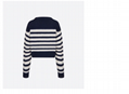 Dior SWEATER Navy Blue Cashmere with White Stripes