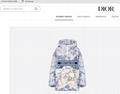 Dior HOODED ANORAK White Cotton with Blue 'Dior Around The World' Motif