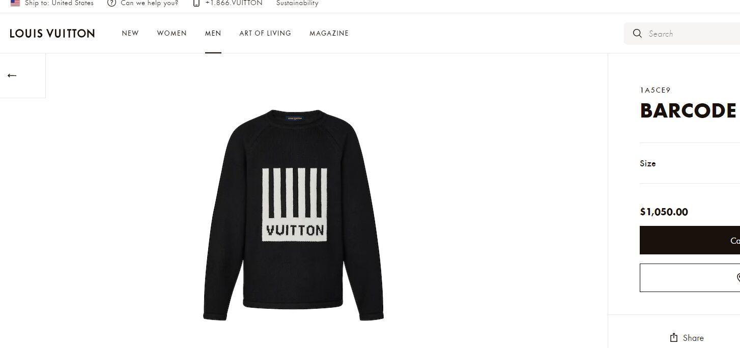 barcode crew neck knitwear    sweater 1A5CE9 2