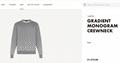 degrade monogram crewneck 1A8FHS    sweater    men sweater    grey sweater  2