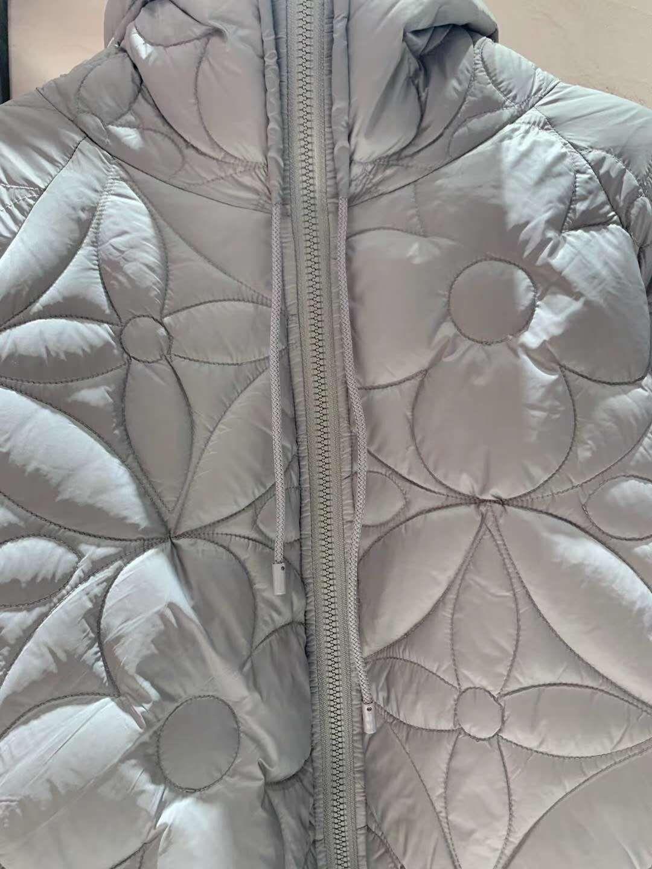 reversible monogram puffer jacket 1A7XO7 metal grey black    coat   3