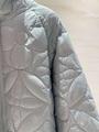 reversible monogram puffer jacket 1A7XO7 metal grey black    coat   4