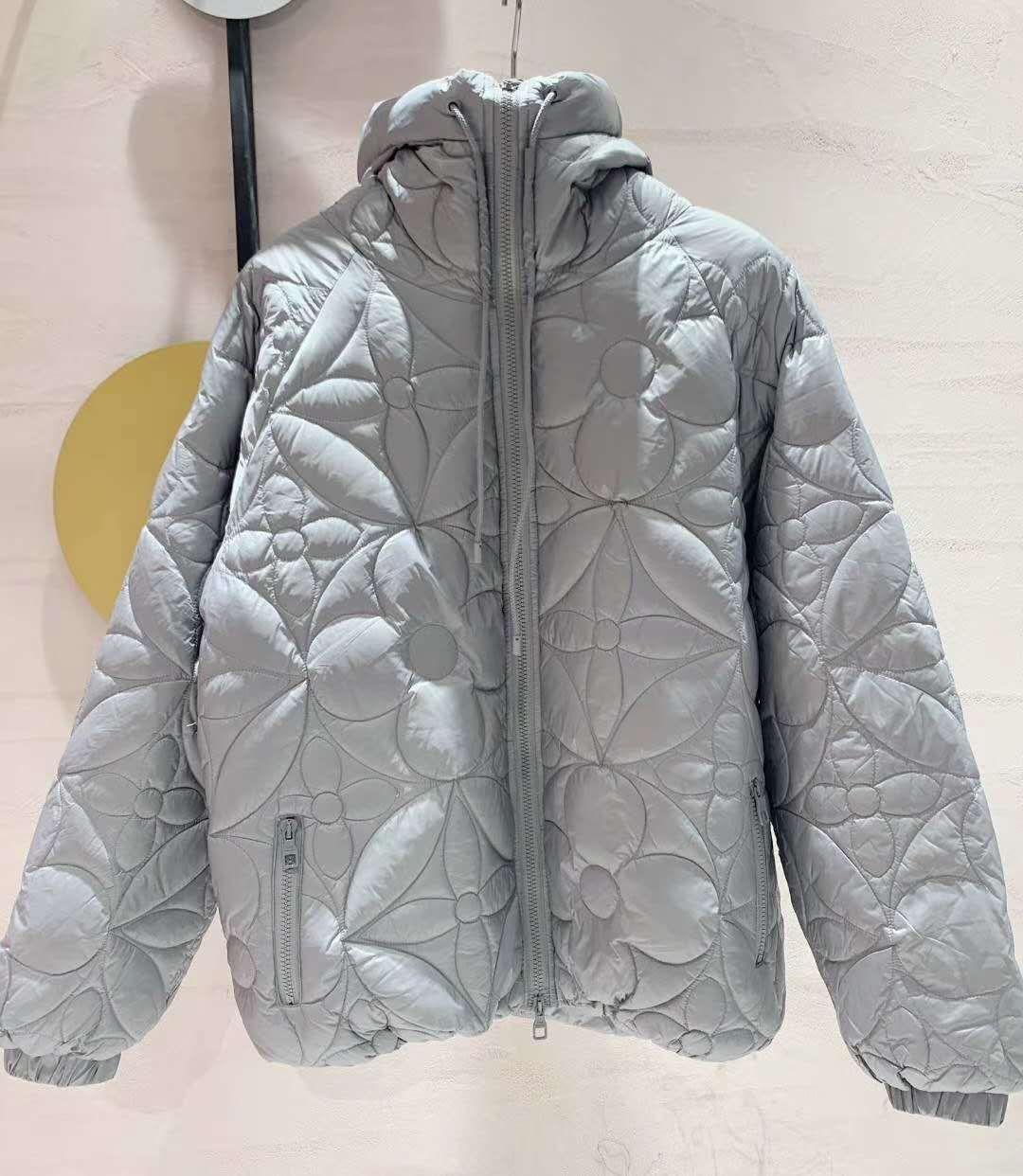 reversible monogram puffer jacket 1A7XO7 metal grey black    coat   2
