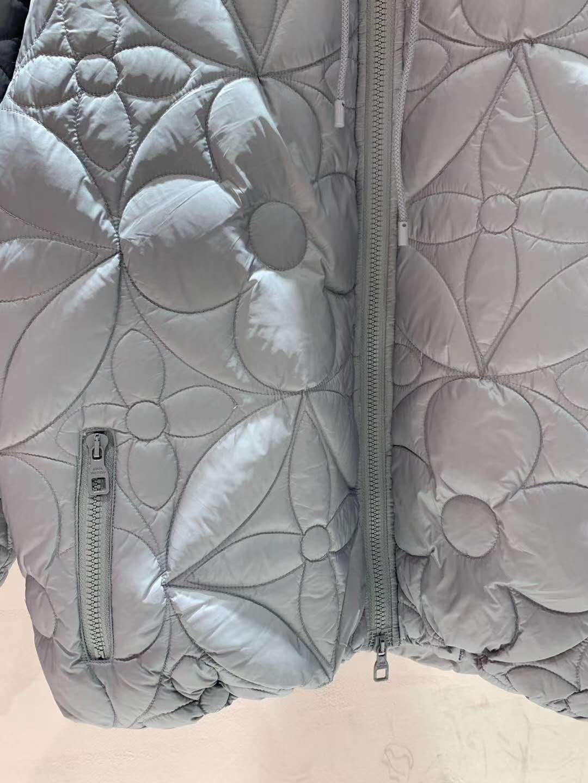 reversible monogram puffer jacket 1A7XO7 metal grey black    coat   8