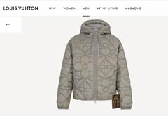reversible monogram puffer jacket 1A7XO7 metal grey black    coat