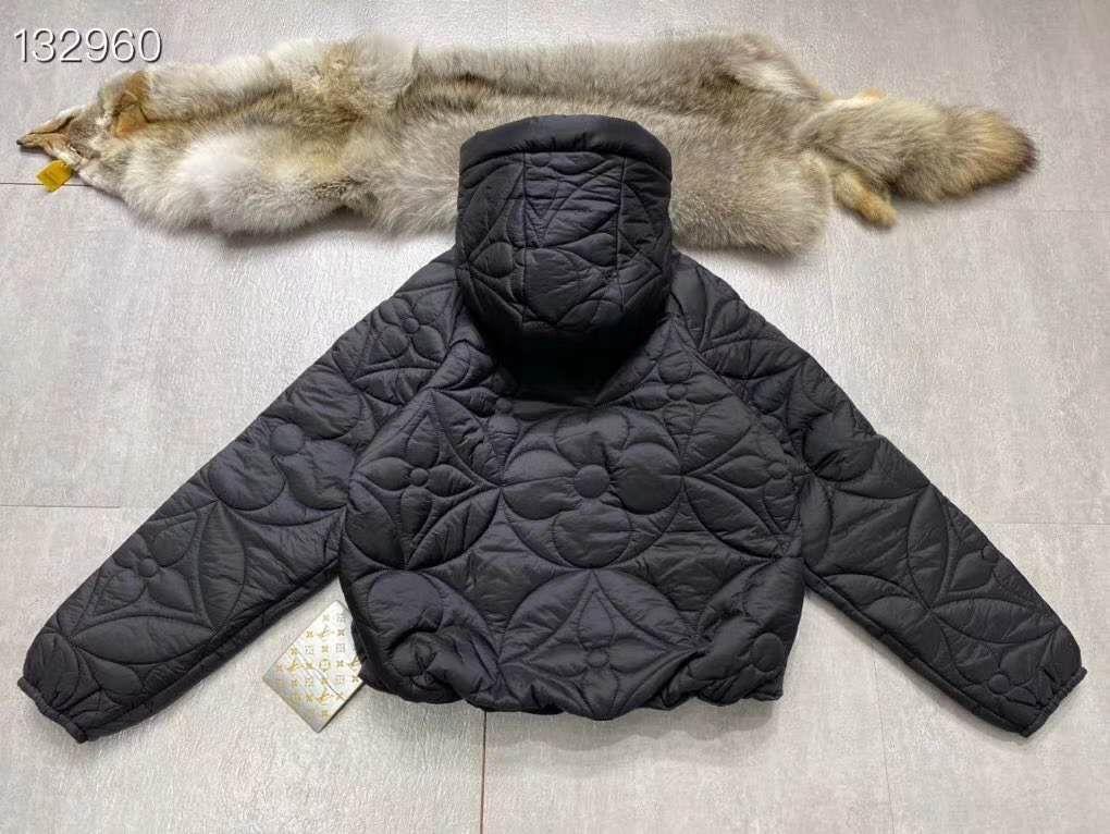 reversible monogram puffer jacket 1A7XO7 metal grey black    coat   9