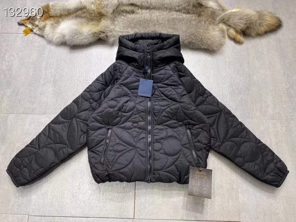 reversible monogram puffer jacket 1A7XO7 metal grey black    coat   10