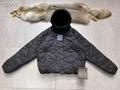 reversible monogram puffer jacket 1A7XO7 metal grey black    coat   7