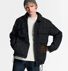 light padded blouson     coat    men coat