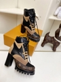 lv star trail ankle boot 1A86OF lv boot Khaki Green 11 cm / 4.3-inch heel with