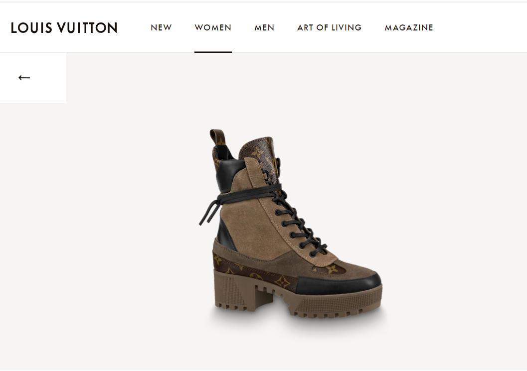 lv laureate platform desert boot 1A4XYE lv boot beige