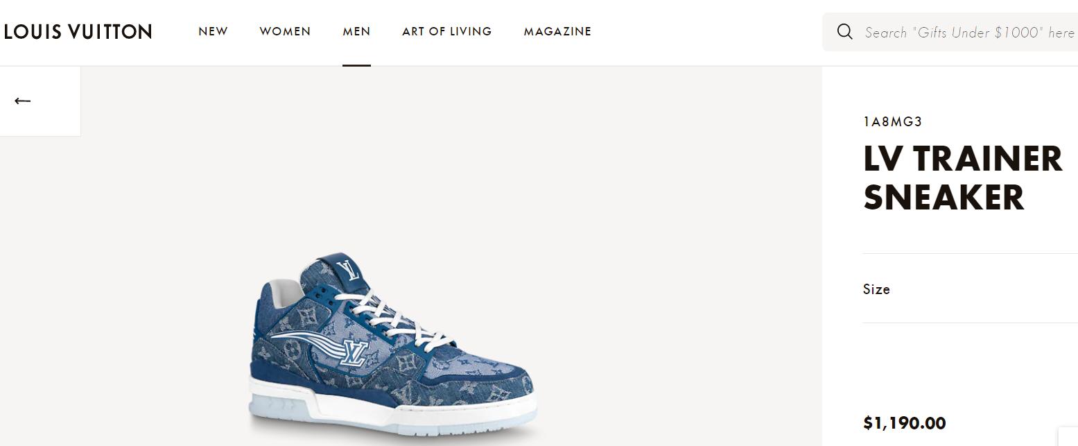 trainer sneaker 1A8MG3 Blue Monogram denim    sneaker    shoes men  1