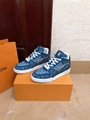 lv trainer sneaker 1A8MG3 Blue Monogram denim lv sneaker lv shoes men