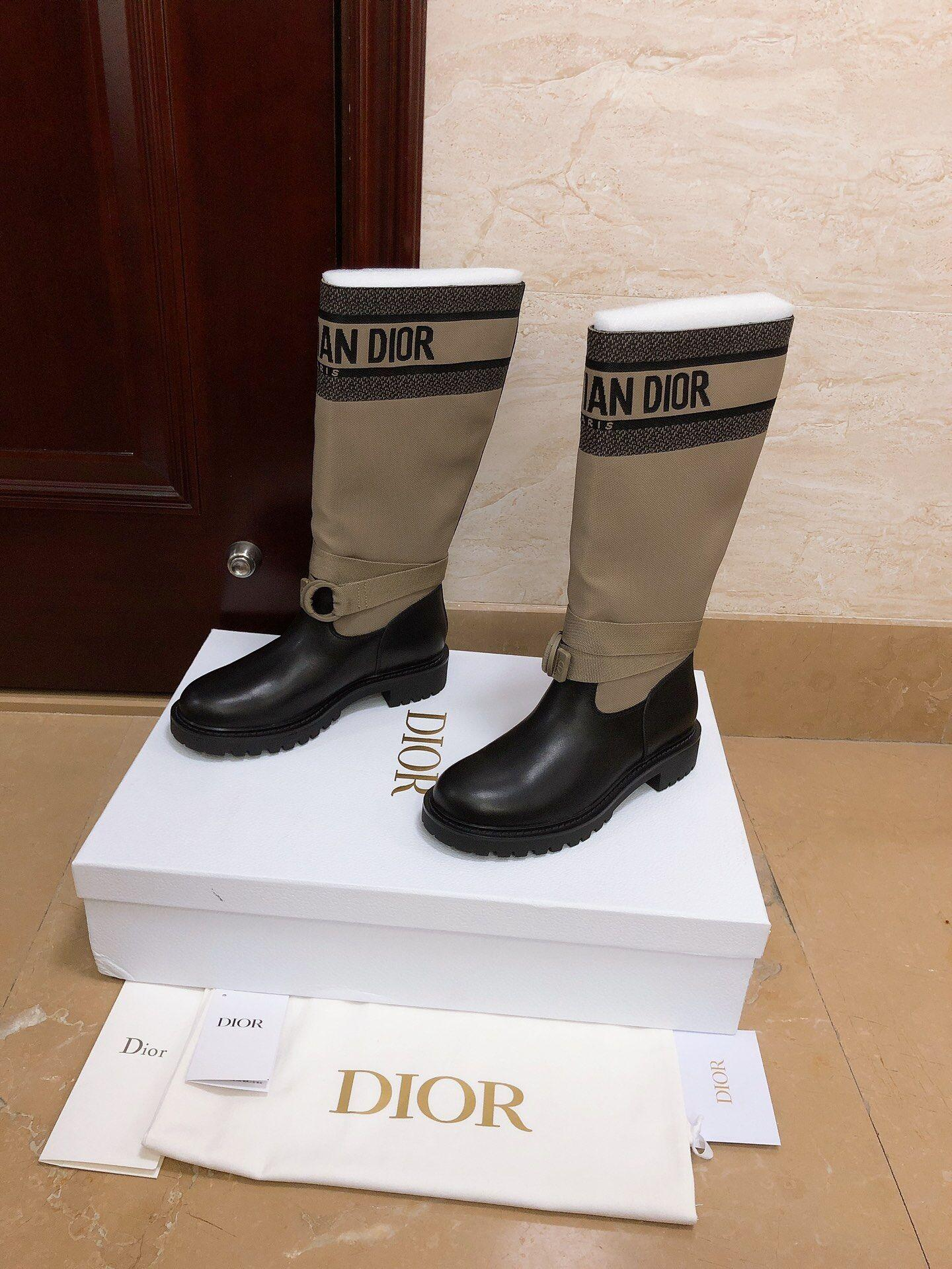 d major boot taupe and black technical fabric and calfskin 5