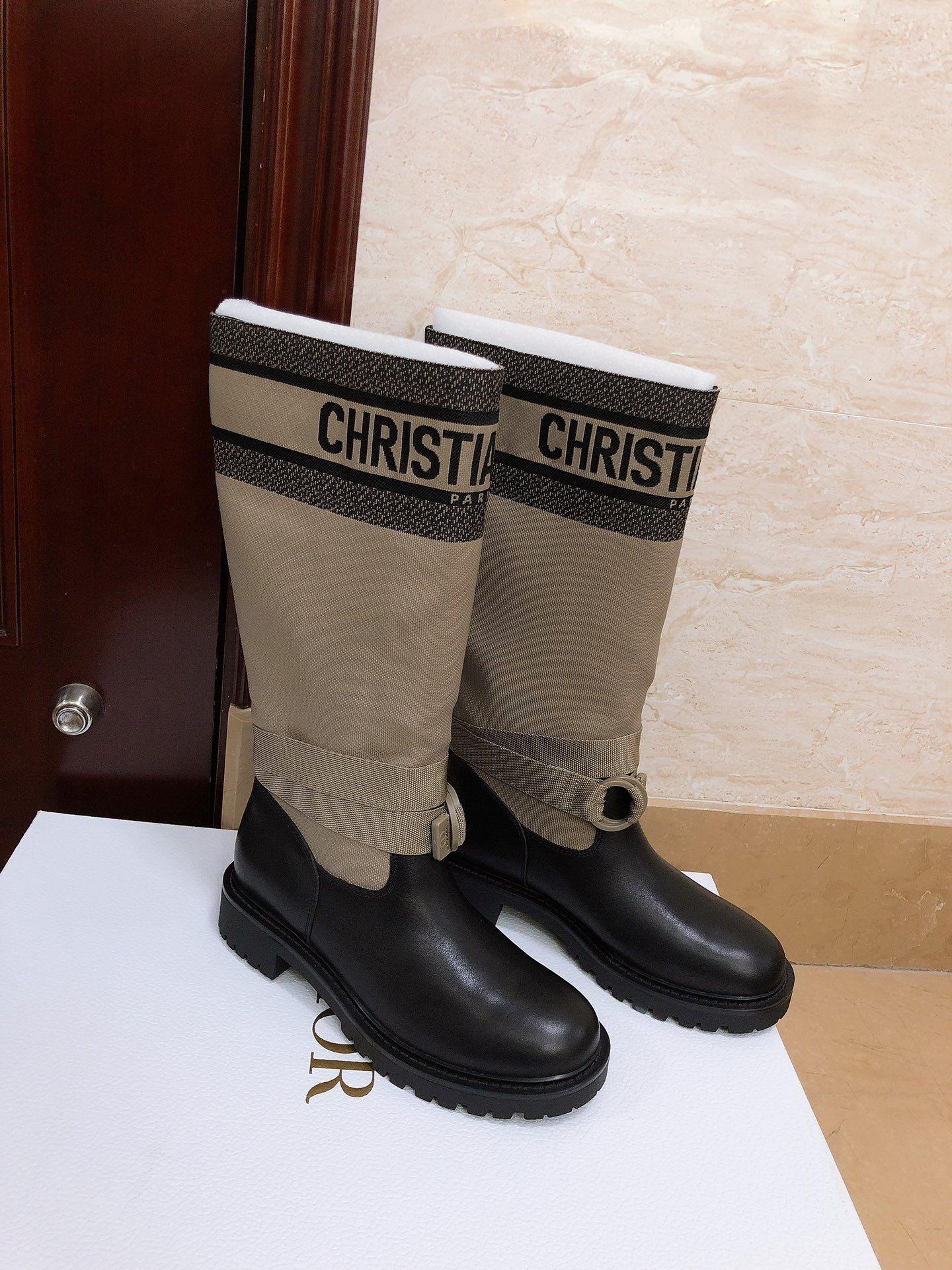 d major boot taupe and black technical fabric and calfskin 2