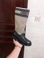 d major boot taupe and black technical fabric and calfskin 8