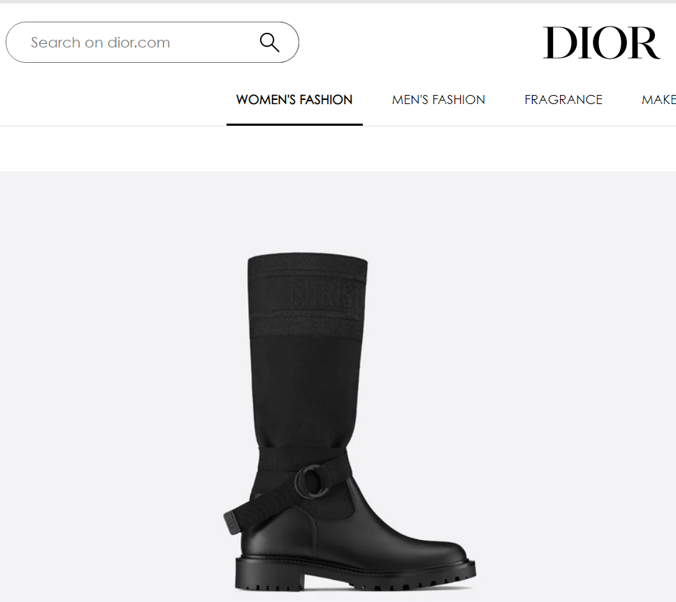 Dior d major boot-black-technical-fabric-and-calfskin