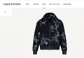 embroidered    flower zip through hoodie