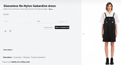 Sleeveless Re-Nylon Gabardine dress       dress       lady dress