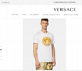 Newest versace medusa amplified embroidered-t-shirt versace tshirt