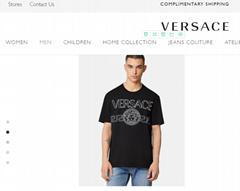 VERSACE MEDUSA LOGO EMBROIDERED T-SHIRT VERSACE TSHIRT Embroidered Medusa logo