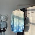 newest lv blue lagoon monogram relaxed fit shirt lv shirt 1A8R6K