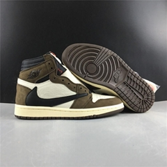 CD4487-100 Air Jordan 1 Retro High Travis Scott US 11 Basket Shoes