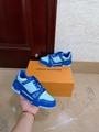 LV TRAINER SNEAKER 1A8WEN LV MEN SNEAKER LV SHOES blue