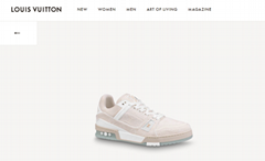 2020 newest LV TRAINER SNEAKER 1A8Z4W Beige lv sneaker lv men shoes