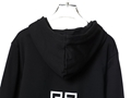 GIVENCHY 4G EMBROIDERED HOODIE GIVENCHY HOODY BLACK GIVENCHY SWEATSHIRT
